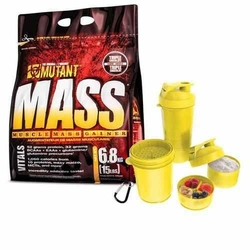 PVL Mutant Mass - 6800g + Shaker - Triple Chocolate  Yellow