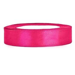 Tasiemka satynowa 12mm25m - różowy ciemny - różcie