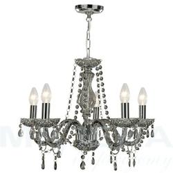 Marietherese lampa wisząca 5 kryształ dymne szkło
