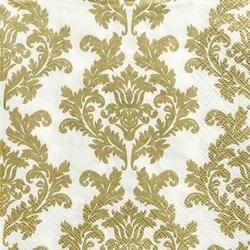 Serwetka do decoupage 33x33 cm - złote ornamenty