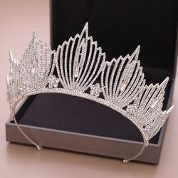Diadem korona cyrkonie bogato zdobiony ślub srebro