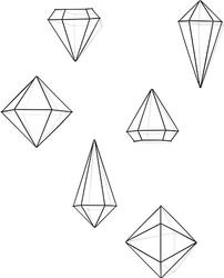 Dekoracja prisma 6 szt. czarna