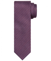 czerwony krawat jedwabny w delikatny wzór