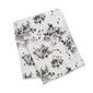 Kocyk - otulacz muślinowy lulujo 120x120  black floral