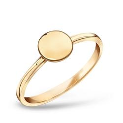 Staviori pierścionek z kółkiem. żółte złoto 0,333. średnica korony ok. 6,45 mm.