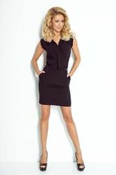 Czarna mini sukienka z zakładanym dekoltem