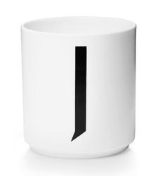 Kubek porcelanowy AJ litera J