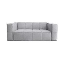 Hk living :: sofa tapicerowana cube 3-osobowa szara