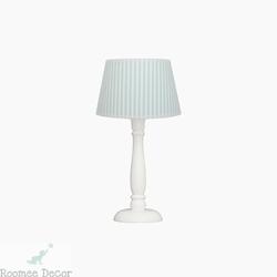 Lampka nocna roomee decor - miętowe paski