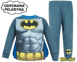 Piżama z peleryną batman gotham knight 3-4 lata