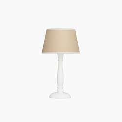 Lampka nocna roomee decor - beżowa z białą lamówką