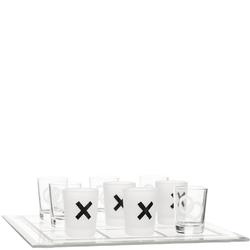 Gra kółko i krzyżyk - szklana plansza i kieliszki do alkoholu Sagaform SF-5016681