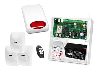 System alarmowy do rozbudowy: płyta główna micra, pilot mpt-300, 3x czujka bingo, sygnalizator zewnetrzny spl-5010 r,  akcesoria