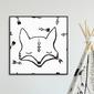 Foxy arrows - plakat dla dzieci , wymiary - 30cm x 30cm, kolor ramki - czarny