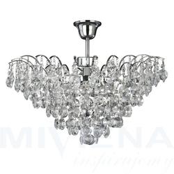 Limoges lampa wisząca 3 chrom kryształ