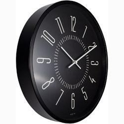 Zegar ścienny fluorescencyjny 35 cm luminous nextime czarny 3261 zw