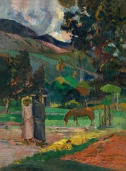 Tahitian landscape, paul gauguin - plakat wymiar do wyboru: 40x60 cm