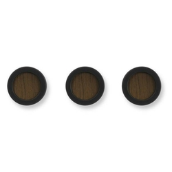 Wieszak hub 3 czarny  brązowy - brązowy || czarny