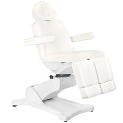Fotel kosmetyczny elektr. azzurro 869as pedi obrotowy 5 siln. biały