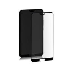 Qoltec Szkło hybrydowe ochronne do Huawei P20 | czarne | pełne