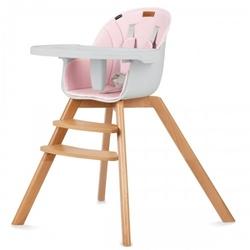Kidwell nobis 2w1 rosa drewniane krzesełko do karmienia i fotelik