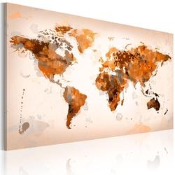 Obraz - map of the world - desert storm
