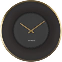 Zegar ścienny Illusion Karlsson czarno-złoty KA5613