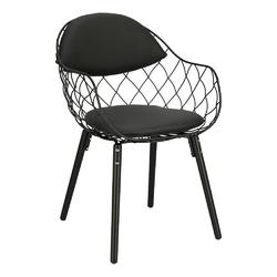 Krzesło jahi czarne pu czarneczarne