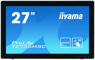 IIYAMA 27 T2735MSC-B2 AMVA+, 10p P-Cap, USB, HDMI, Kamera, Mikrofon