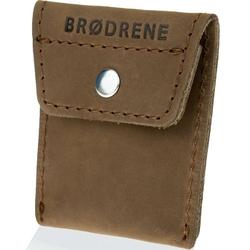 Skórzana bilonówka coin wallet brodrene cw02 jasnobrązowa - j. brązowy
