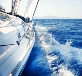 Fototapeta yacht. żeglarstwo. yachting. turystyka. luxury lifestyle