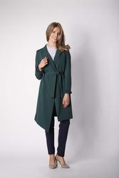 Zielony płaszcz z długim rękawem