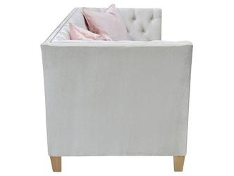 Klasyczna sofa nadia z pikowanym oparciem 225 cm