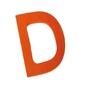 Drewniana litera d, grimms