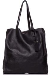 Czarna stylowa pojemna torebka na ramię