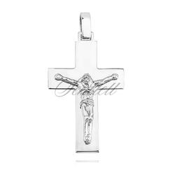 Srebrny duży krzyżyk pr.925 o równych krawędziach