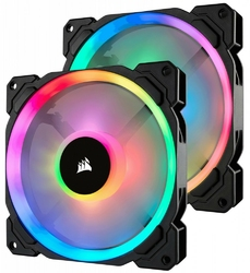 Corsair Fan LL140 RGB LED PWM 2 Fun Pack                        Dual Light Loop RGB LED PWN Fan - 2 Fan Pack with Lighting Node