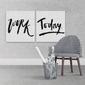 Work today - komplet dwóch obrazów , wymiary - 60cm x 60cm 2 sztuki