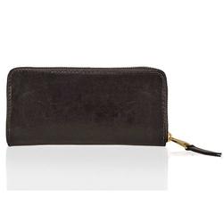 Skórzany portfel damski solier p02 ciemnobrązowy