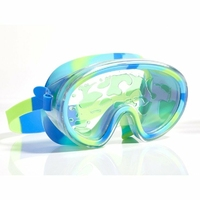 Maska do pływania, Lawa, limonkowa, Bling2O