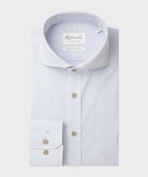 Stylowa koszula michaelis w biało-niebieskie paski 45