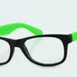 Okulary nerdy zerówki  zielone 2071c