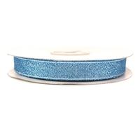 Wstążka brokatowa 12 mm 32 m - niebieska - nie