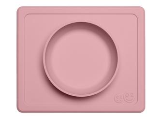 RÓŻOWA pastelowa miseczka z podkładką 2w1 Mini Bowl
