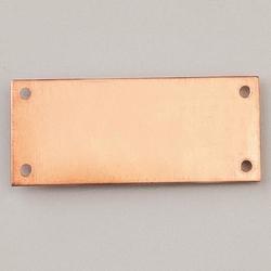 Metalowa zawieszka Efcolor-prostokątny z 4 40x17mm - PR40