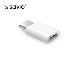 Elmak Adapter SAVIO AK-30 Micro USB F - USB 3.1 Typ C M