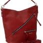 Klasyczna torebka damska david jones czerwona 6436 - czerwony