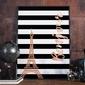 Bonjour - plakat w ramie , wymiary - 60cm x 90cm, ramka - czarna