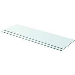 Vidaxl półki, 2 szt., panel z przezroczystego szkła, 90 x 25 cm