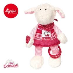 Sigikid przytulanka aktywizująca owieczka schnuggi z obręczami, grzechotką, piszczałką i szeleszczącą folią 3 m+